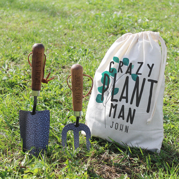 Crazy Plant Man Garden Tool Set - Personalised For John