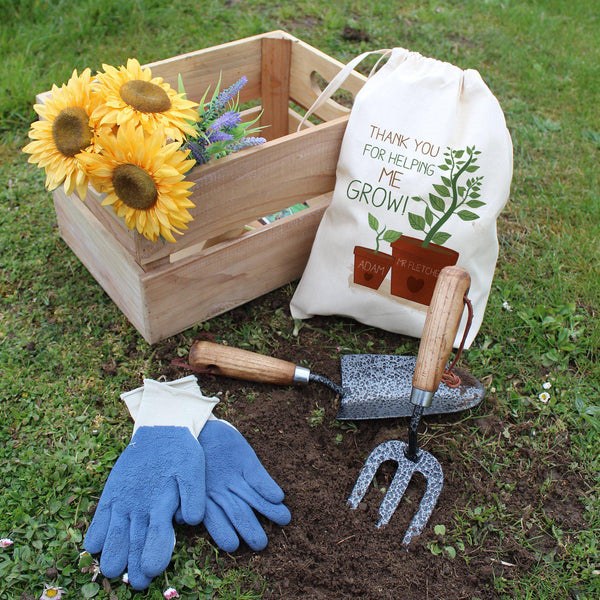 Helping Me To Grow Garden Tool Set - Personalised For Mr Fletcher