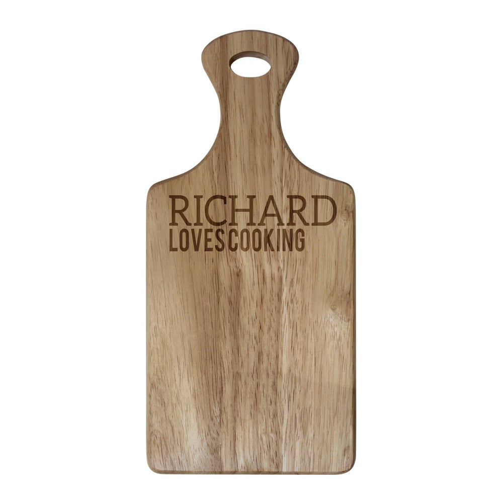 Hevea wood personalised with RICHARD LOVES COOKING Paddle Board Paddle Board - 3v3rythinguneed