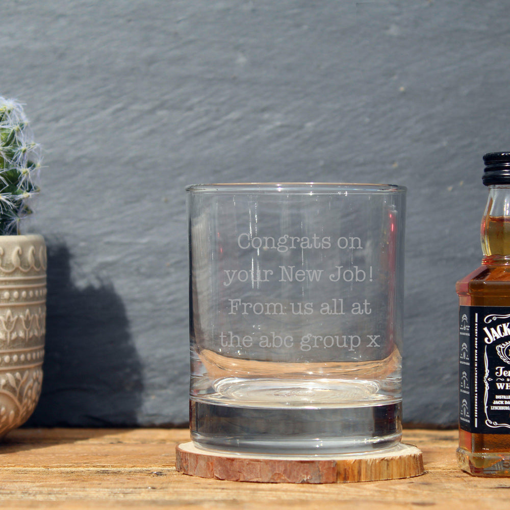 Jack Daniels Miniature & Tumbler Gift Set Featuring A Personalised Message