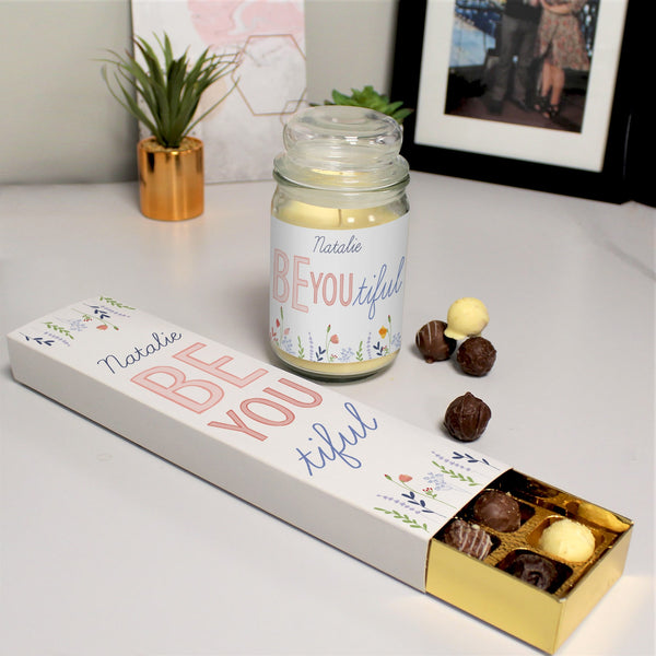 Be You Candle Jar & Truffles -  Personalised For Natalie