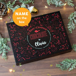 Personalised 12 Days of Christmas Gift Box - Truffle - Name on the box caption