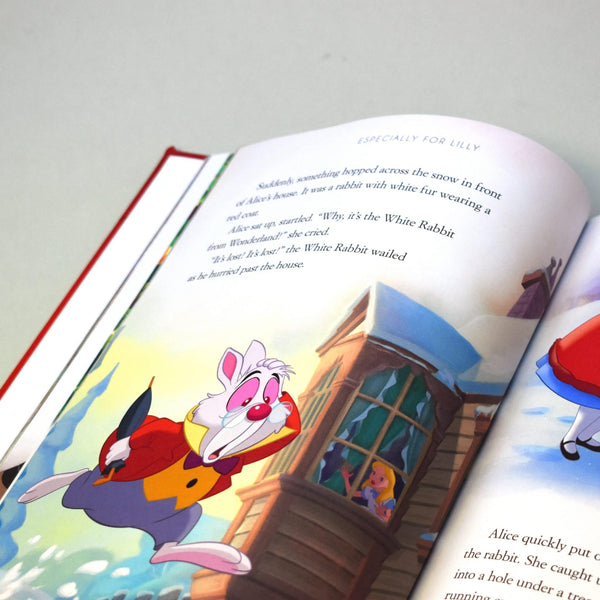 Personalised Disney Christmas Collection Book -  Alice In wonderland Story