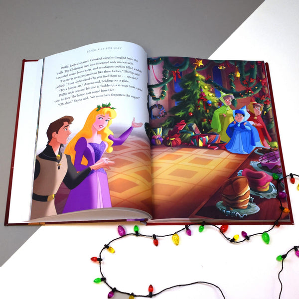 Personalised Disney Christmas Collection Book -  Showing Sleeping Beauty Story Pages