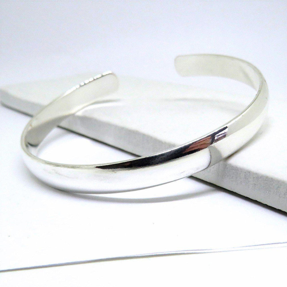 Sterling Silver Chunky Silver Bangle