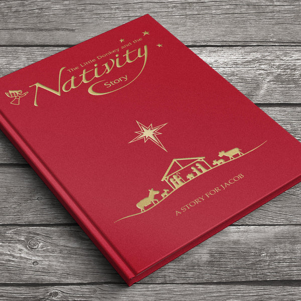 The Little Donkey and the Nativity Story - Front Cover With Personalised Name