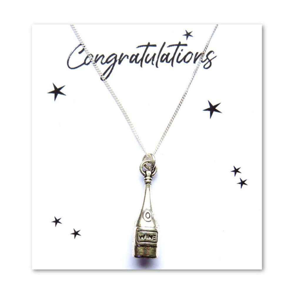 Congratulations Charm Necklace Card