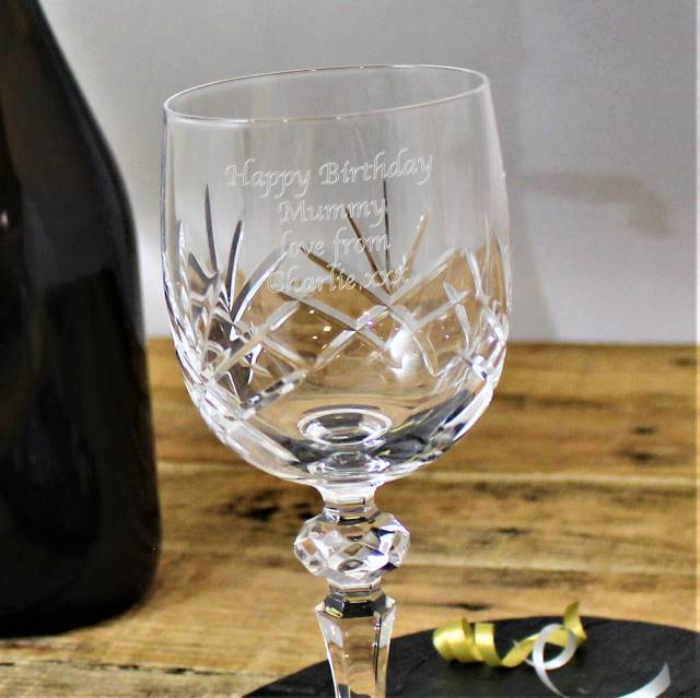 Cut Crystal Wine Glass