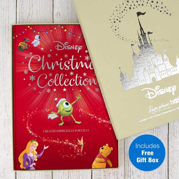 Personalised Disney Christmas Collection Book - Free Disney Gift Box