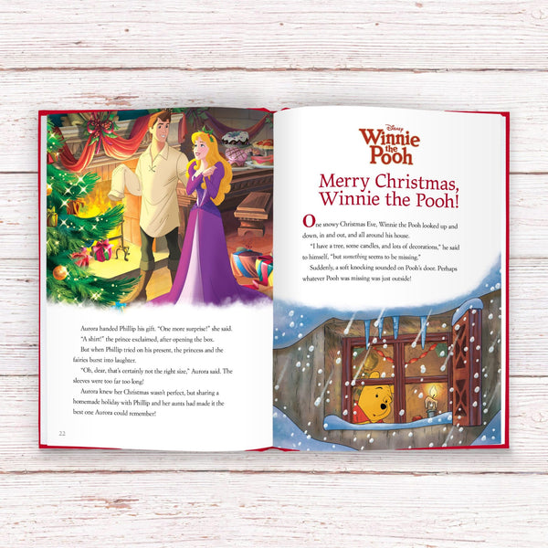 Personalised Disney Christmas Collection Book -  Opened On Merry Christmas Winnie The Pooh Story