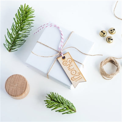 Enjoy Gift Tag - 10pk - Attached To A Present