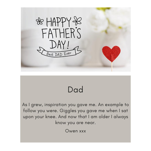 Fathers Day Message Card - A6
