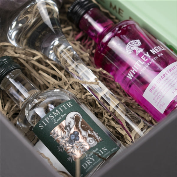 Gin For One Hamper -  Close Up Of Gin Miniatures