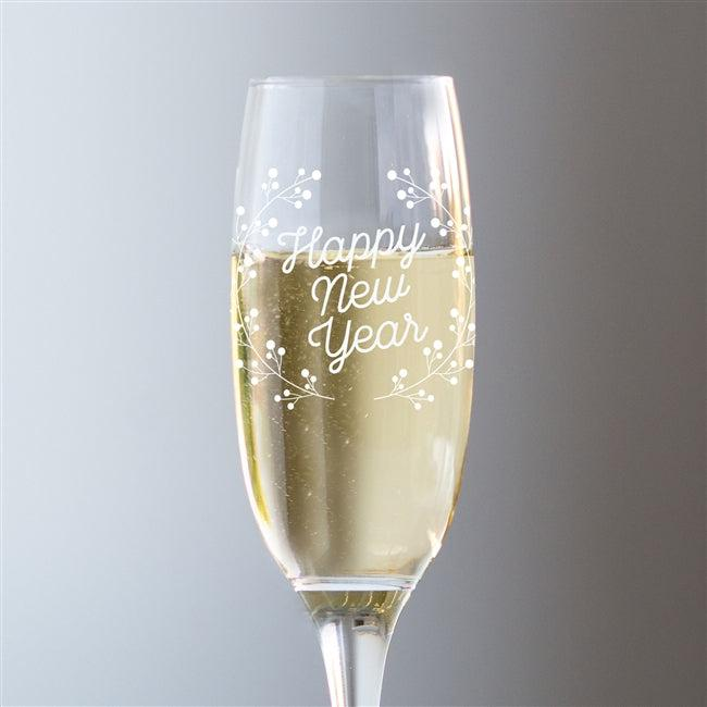 Happy New Year Champagne Glass