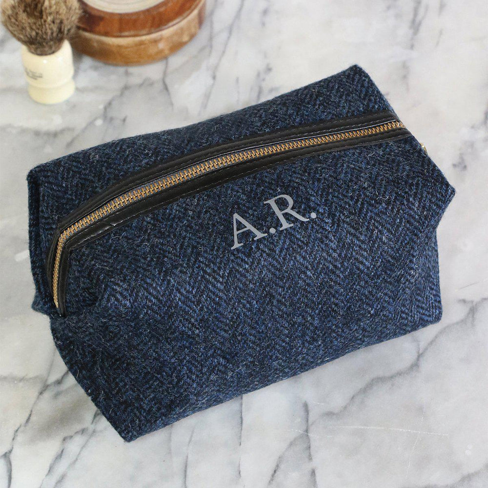 Personalised Harris Tweed Wash bag