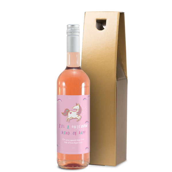 HotchPotch Unicorn Kind Of Day Rose Wine With Gold Gift Box