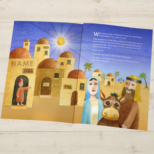The Little Donkey and the Nativity Story - Bethlehem Illustration