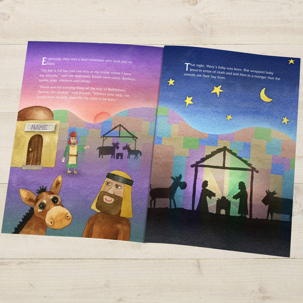 The Little Donkey and the Nativity Story - Manger Illustration