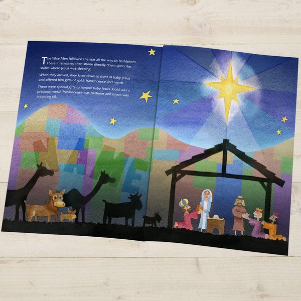 The Little Donkey and the Nativity Story - Manger & Three Wise Men