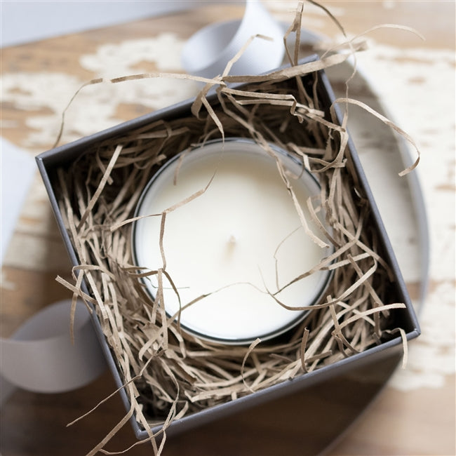 Luxury Christmas Bird Soy Wax Candle In It's Gift Box Packed In With Straw