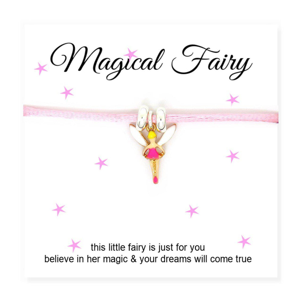 "Magical Fairy Cord Bracelet & Card - Card Reads ""This Little Fairy Is Just For You Believe In Her Magic & Your Dreams Will Come True"""