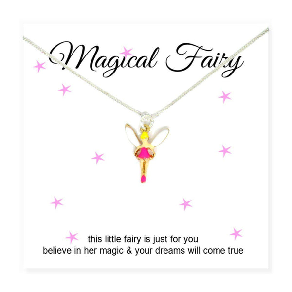 "Magical Fairy Necklace & Card - Message Reads ""This Little Fairy Is Just For You Believe In Her Magic & Your Dreams Will Come True"""