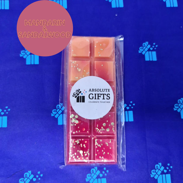 Mandarin & Sandalwood Snap Bar - Orange & Red With Gold Glitter Pieces