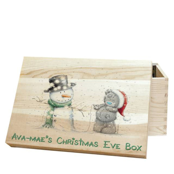 Me To You Tatty & Snowman Christmas Eve Box - Features Tatty Making A Snowman With A Personalised Name Followed By The Text
