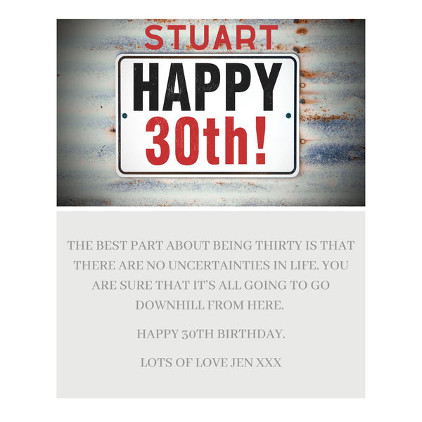Male Happy Birthday Message Card - A6