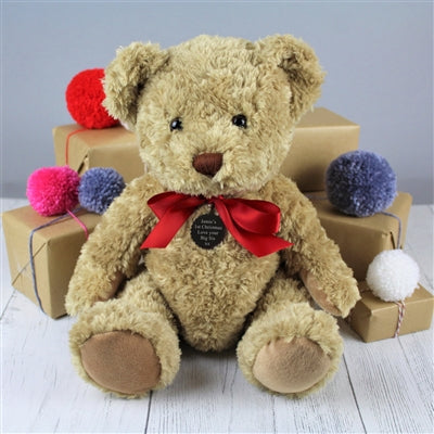 Cute My 1st Christmas Brown Bramble Bear Sitting In Front Of Presents