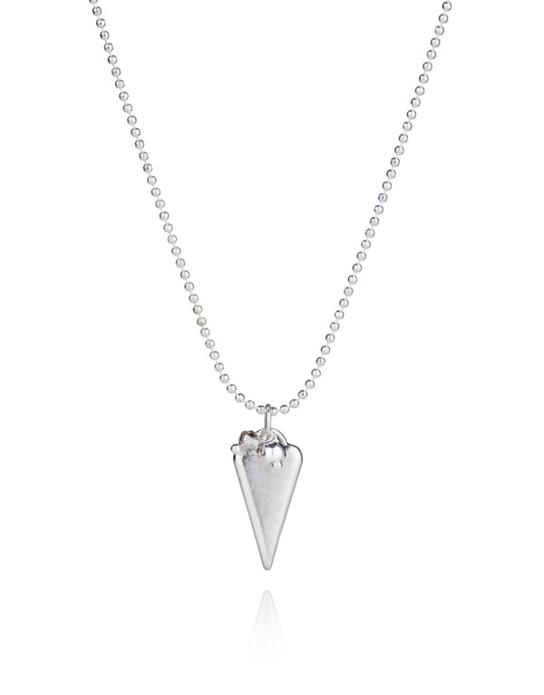 Elongated Heart Charm Necklace