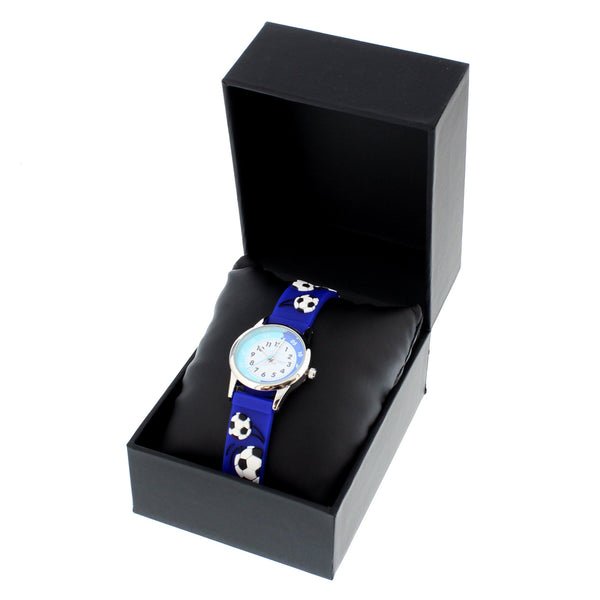 Personalised Kids Blue Time Teacher Watch with Presentation Box - Sitting In The Presentation Box