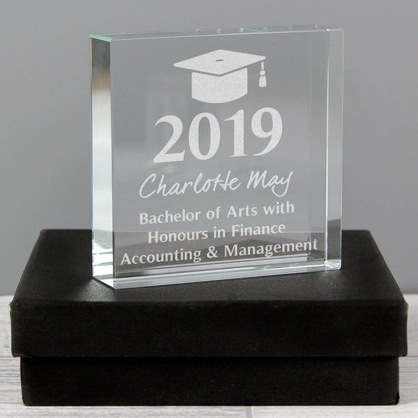 Personalised Graduation Large Crystal Token - For Charlottes Graduation
