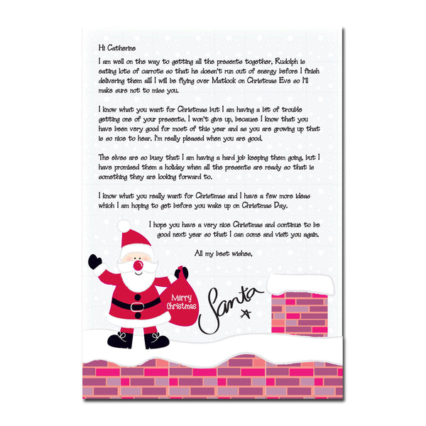 Personalised Rooftop Santa Letter -  For Catherine From Santa