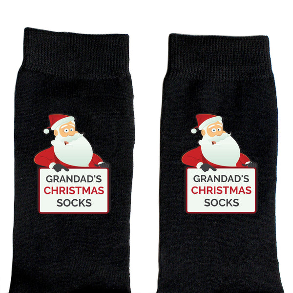 Personalised Santa Claus Christmas Socks - Close Up Of Santa & Personalisation