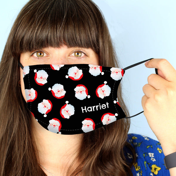 Personalised Santa Face Covering - Personalised For Harriet