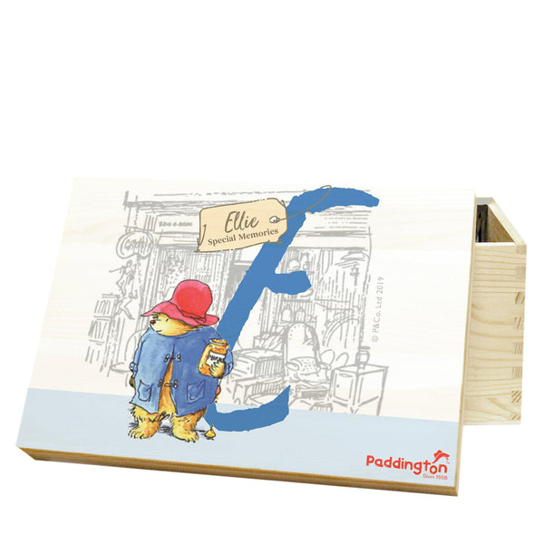 Paddington Bear Initial Memory Box Personalised With The Initial And Name Of Your Choice