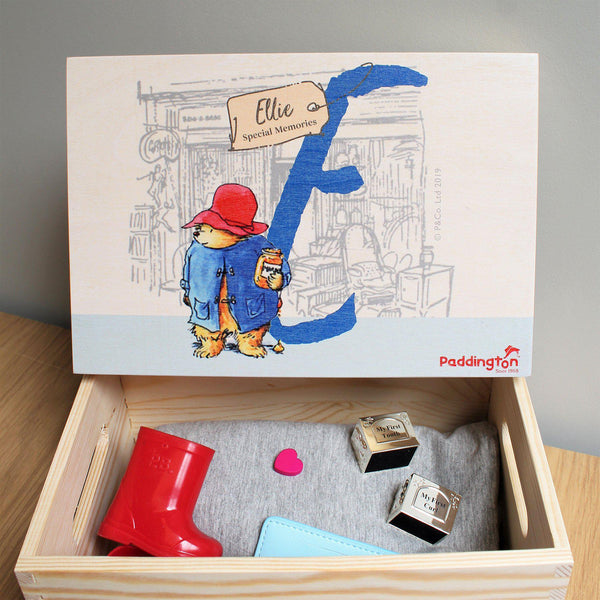 Paddington Bear Initial Memory Box With Memories Tucked away Inside