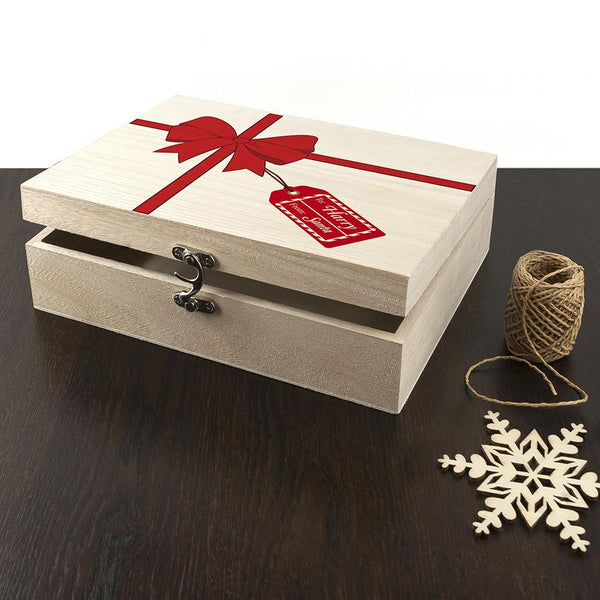 Personalised All Wrapped Up Christmas Eve Box = Box Is Ajar