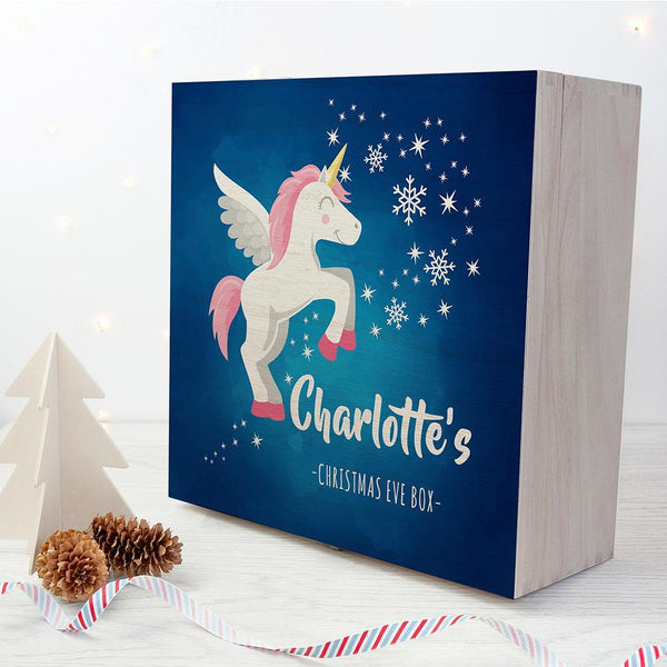 Personalised Baby Unicorn Christmas Eve Box - Large - Personalised For Charlotte