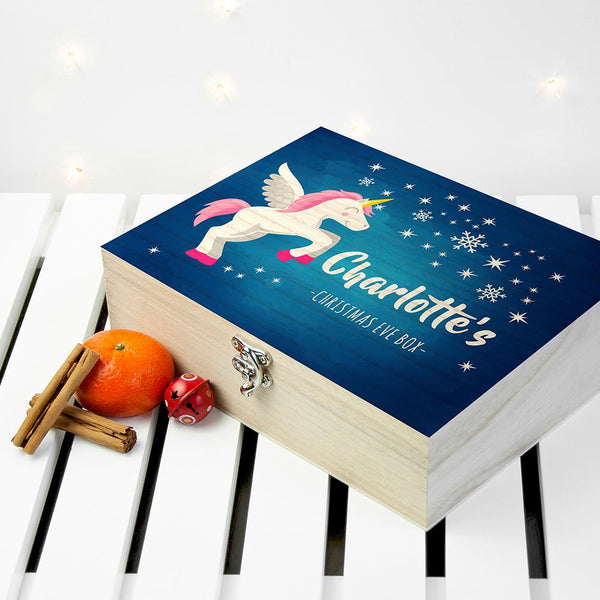 Personalised Baby Unicorn Christmas Eve Box - Small - Personalised For Charlotte