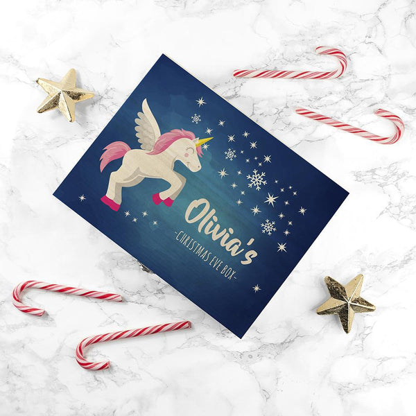 Personalised Baby Unicorn Christmas Eve Box - Small