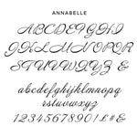 Personalised Annabelle Script Text Which The Tumbler Will Be Personalised With