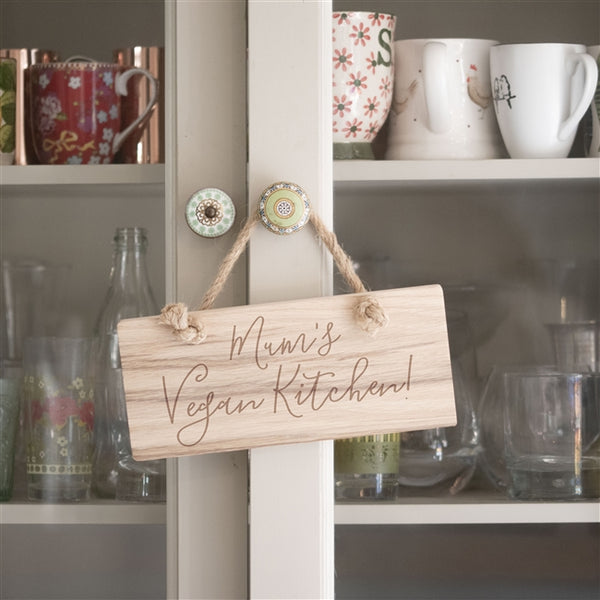 Personalised Wooden Sign - Oak Wood With Script Font Adds A Special Touch