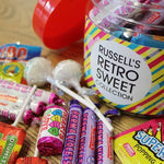 RETRO SWEET TASTER JAR - LOLLIPOPS, PARMA VIOLETS AND POPPING CANDY
