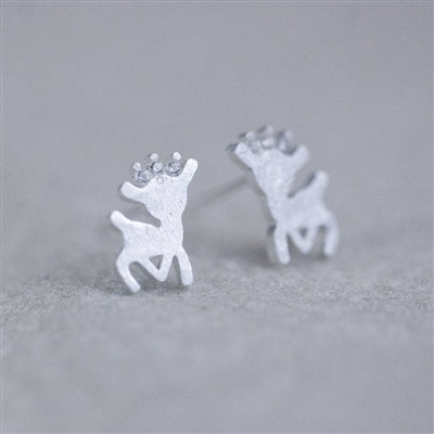 Silver Reindeer Earrings