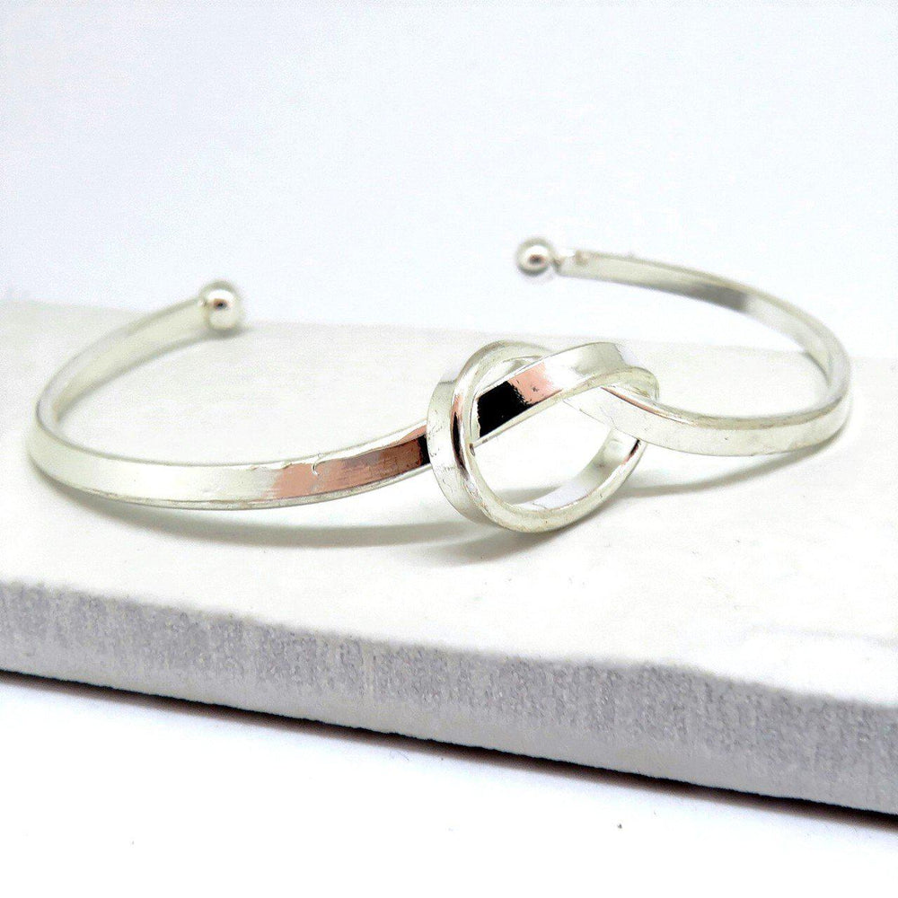Silver Plated Knot Bangle