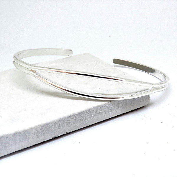 Women's Dainty Sterling Silver Plated Open Bangle