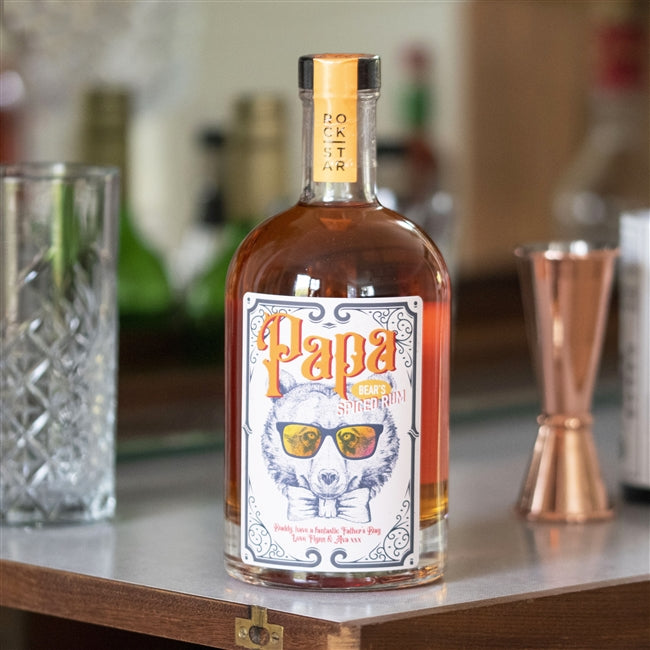 A sweet, spiced aromatic rum especially for papa bear, featuring a snazzy label with a cool bear design