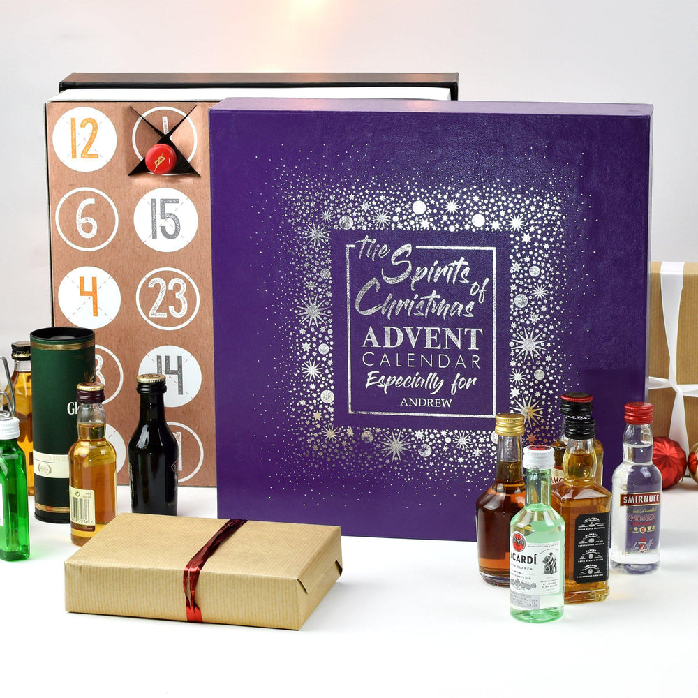 Personalised Mixed Spirits Advent Box